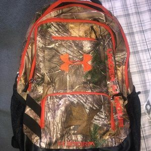 •Camo/orange Under Armour Backpack